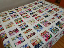 Queen size Hawaii style Machine pieced and quilted quilt #NJ-66