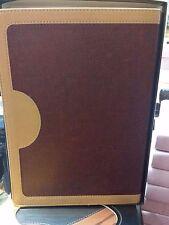 BIBLIA DE ESTUDIO VIDA PLENA PIEL  ROJO/BEIGE REINA VALERA 1960 CON INDICE