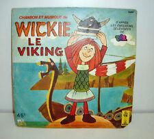 SP WICKIE LE VIKING Disques Adès 11 027 Le Petit Menestrel (1979)