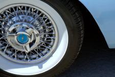 14'' Atlas Tire Side White wall Portawall Topper Rubber Tire Ring Set of 4 Pcs