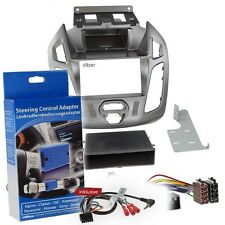 Ford Transit Connect PJ2 13-18 1-DIN Autoradio Einbauset silber Lenkrad Adapter