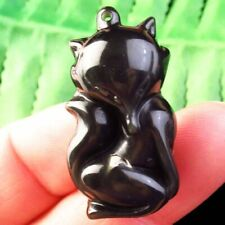 Fox Pendant Bead D65610 35x18x13mm Carved Natural Gold Obsidian