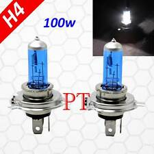 H4 9003 HB2 12V 100W Halogen Headlight Light Lamp Bulbs 5000K Super Bright White