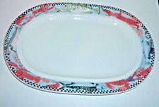 ESCHENBACH Porzellan Germany Oval Serving Platter Lobster Seafood Fish 13 x 9