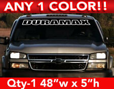 "CHEVY "" DURAMAX "" DIESEL OUTLINE WINDSHIELD DECAL STICKER 48""w x5""h Any 1 Color"