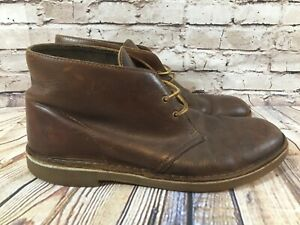 CLARKS Brown Leather Lace Up Desert Casual Boots Men's Size 11 M
