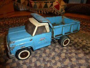 Vintage 1960's Blue& White Tonka pressed Steel Hydraulic Dump Truck