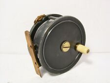 """Vintage Antique Dingley 4"""" Alloy Salmon Fly Fishing Reel - Retaining Well..."""