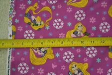 "By-the-Half-Yard 43"" Rapunzel & Pascal Toss on Mulberry Mini-Wale Corduroy M6223"