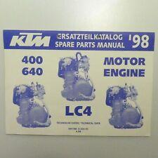 KTM Motor 400 640 LC4 Ersatzteilkatalog part list Engine 1998