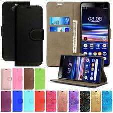 Case For Sony Xperia 1 10 5 L1 L2 L3 XA1 XA2 XZ3 Leather Flip Wallet Phone Cover