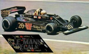 Decals Wolf WR5 German GP 1978 32 1:32 1:43 1:24 1:18 Dutch Scheckter decals