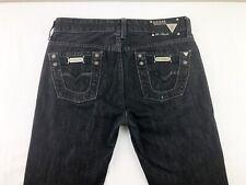 GUESS Premium Los Angeles JEANS Lincoln Slim Straight Men's Black Jeans Size 30