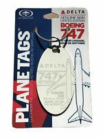 Delta Airlines Boeing 747-400 Tail #N665US Genuine Aluminum Plane Skin Bag Tag