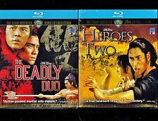 Shaw Brothers - Deadly Duo & Heroes Two (2 Brand New Blu-ray Discs)