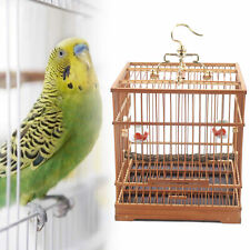 New listing Hot Sell Bird Cage Solid Square Ebony Bamboo Carved Wooden Pet Nest Home