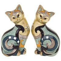 Gallery Cat Sitting Small Statue Ornament Figurine Cats 16.5cm