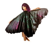 """Deluxe Giant Raven Wings 93"""" Wing Span Black Adult Halloween Costume Accessory"""
