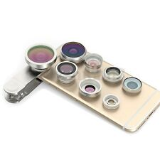 8in1 Fisheye+Wide Angle+Macro Phone Lens Kit For Samsung Galaxy S8 S7/S6/EDGE S5