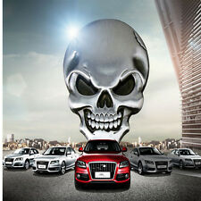 3D Metal silver Skull Bone Auto Car Motorcycle Decor Emblem Badge Decal Sticker