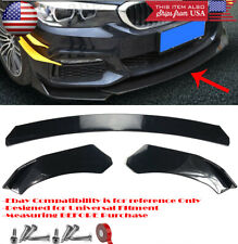 3 Pieces Bumper Lip Spoiler Diffuser Splitter Shark Fin Winglet For VW Porsche