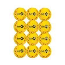 Soft Hit Soft Baseball/Softball Training Foam Ball (12 Pack, Yellow)