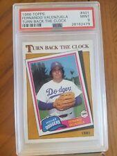 1986 Fleer Fernando Valenzuela Dodgers Turn Back the Clock  PSA 9