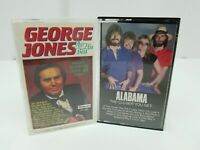 Country Music Cassette Tapes Lot of 2 George Jones At His Best & Alabama Closer