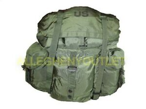 US Military Alice Pack LARGE Main Pack Rucksack Backpack OD Green NO Straps EXC