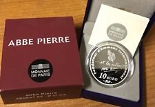 France 2012 ABBE PIERRE 10 euros Silver Proof - Francia silber argent