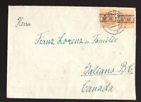 1948 Germany to Galiano Island BC - Original letter included in German   fr #609