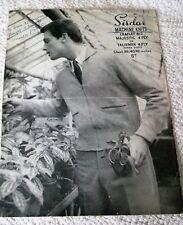 ORIGINAL, VINTAGE  SIRDAR MACHINE KNITTING PATTERN No.812 MAN'S LUMBER JACKET
