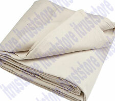 4X12 Foot Cotton Canvas Drop Cloth Cover Sheet Pad for Painters Paint Dropcloth
