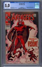 AVENGERS #57 CGC 5.0 1ST SILVER AGE VISION