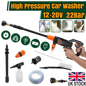 Portable Cordless Pressure Washer Power Water Cleaner 320PSI w/ Battery Wash Car
