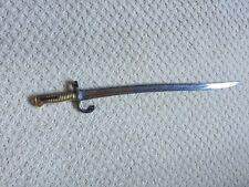 Model 1866 Chassepot Brass Handled Bayonet.