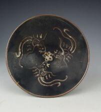 Chinese Antique JiZhou Ware Porcelain Bowl with three Phoenix