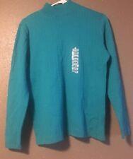 Karen Scott Womens Sweater Size large top pool green NEW