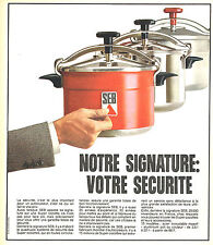 PUBLICITE ADVERTISING 104  1973  SEB   cocotte- minute