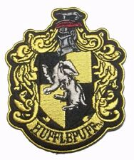 """Harry Potter Hufflepuff Lg Version 4 1/2"""" Tall Embroidered Patch"""