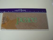 Embellish Your Story Magnet PEACE LIME GLITTERED Word Green Display Accent NEW