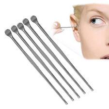 5 Pcs Stainless Steel Ear Pick Wax Curette Remover Cleaner Care Tool Earpick Rap
