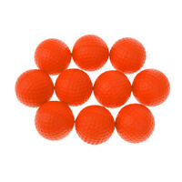 10Pcs Orange Soft PU Foam Golf Balls for Indoor Outdoor Training Practice