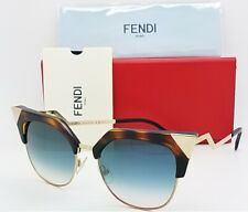 New Fendi sunglasses Cat Eye FF0149/S TLW 54mm Havana Azure Gradient  AUTHENTIC