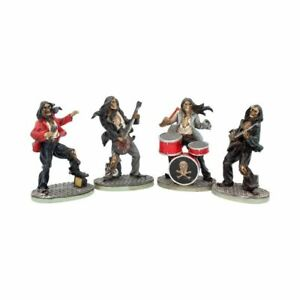 Set of 4 Music Rock One Hell of a Band Figurines Skeletons Gift Decor Gothic