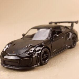 2010 Porsche 911 GT2 RS Black Model Sport Race Car 1:36 12.5cm Die-Cast Opens