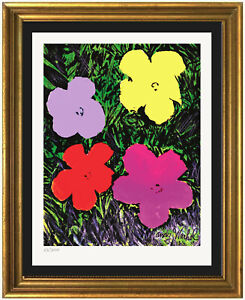 """Andy Warhol """"Flowers"""" """"Signed/Hand-Numbered Ltd Ed Print (unframed)"""