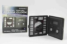 Reloj Despertador Digital de Viaje Convertidor de tiempo global de Oficina Mesa Plegable De Bolsillo
