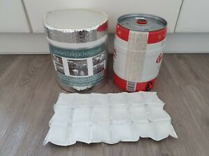 INSULATED 5ltr PARTY KEG JACKET AND 2 ICE SHEETS