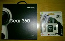 Samsung Gear 360 (2017) Camcorder - White with 32GB Kingston Micro SD card